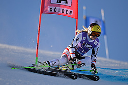 26.10.2013, Rettembach Ferner, Soelden, AUT, FIS Ski Alpin, FIS Weltcup, Ski Alpin, 1. Durchgang, im Bild Anna Fenninger from Austria races down the course // Anna Fenninger from Austria races down the course during 1st run of ladies Giant Slalom of the FIS Ski Alpine Worldcup opening at the Rettenbachferner in Soelden, Austria on 2012/10/26 Rettembach Ferner in Soelden, Austria on 2013/10/26. EXPA Pictures © 2013, PhotoCredit: EXPA/ Mitchell Gunn<br /> <br /> *****ATTENTION - OUT of GBR*****