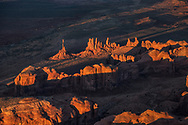 Totem Pole, Monument Valley, Arizona, sunset, aerial photo