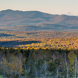 The view south from the lower slopes of Mount Abraham in Mount Abram Township, Maine.