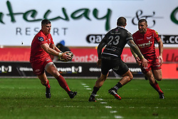 Scarlets' Scott Williams in action during todays match - Mandatory by-line: Craig Thomas/Replay images - 26/12/2017 - RUGBY - Parc y Scarlets - Llanelli, Wales - Scarlets v Ospreys - Guinness Pro 14