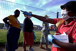 May 2, 2020, Alexandra, Johannesburg, South Africa: Informal vendors convert to the sale of face masks. The scarsity of masks in the country has inflated their value in the early days of the lockdown. (Credit Image: © Manash Das/ZUMA Wire)