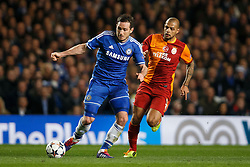 Chelsea Defender John Terry (ENG) in action - Photo mandatory by-line: Rogan Thomson/JMP - 18/03/2014 - SPORT - FOOTBALL - Stamford Bridge, London - Chelsea v Galatasaray - UEFA Champions League Round of 16 Second leg.