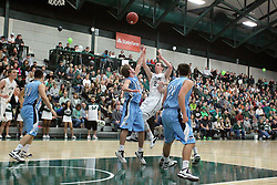 21 February 2015:  Dylan Overstreet during an NCAA men's division 3 CCIW basketball game between the Elmhurst Bluejays and the Illinois Wesleyan Titans in Shirk Center, Bloomington IL
