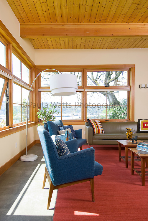 mid century interior furniture in Portland Oregon home