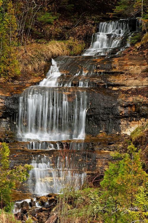 Alger Falls in early May, Munising, Michigan, USA
