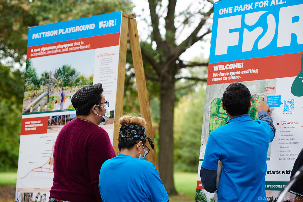Fairmount Park Conservancy, the City of Philadelphia, elected officials, and the Friends of FDR Park will reveal new designs for FDR Park, soliciting community input on future usage, and announce significant city investment in this South Philadelphia treasure. Program will highlight the coming play space and Welcome Center at FDR Park with a speaking program and unveiling.<br /> <br /> DETAILS: Fairmount Park Conservancy, the non-profit organization that brings Philadelphia parks to life, in partnership with Philadelphia Parks & Recreation and the Friends of FDR Park, recently began the implementation of the FDR Park Master Plan, a vision that offers a once-in-a generation opportunity to reimagine a historic Olmsted Park to serve 21st-century Philadelphians.<br /> <br /> The Gateway Phase of the master plan will enhance the visitor experience by restoring and transforming the 5,500 square foot guardhouse at FDR Park's Broad Street and Pattison Avenue entrance into a Welcome Center. The Welcome Center will include a courtyard with restrooms, a staffed information center, equipment rentals, food vendors, and co-working spaces for park staff and community partners. The Welcome Center will also transform the existing stables into a 4,000-square- foot cafe and 6,700-square-foot event space overlooking the Pattison Lagoon.<br /> <br /> Adjacent to the Welcome Center will be a world-class destination play space that encourages nature play. Park-goers of all ages and abilities will be able to enjoy the playscape with rolling paths, climbing structures, log scrambles, and treehouses. A mega-swing set will provide a unique swing experience unlike any other in the city, overlooking the Pattison Lagoon.<br /> <br /> Learn more about the FDR Park Master Plan: https://myphillypark.org/what-we-do/capital-projects/fdr-park/<br /> <br /> for Fairmount Park Conservancy<br /> October 6, 2021