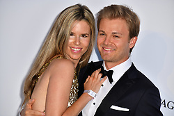 Nico Rosberg and Vivian Sibold attend the 2018 amfAR Gala on May 17, 2018 in Cap D'Antibes, France. Photo by Lionel Hahn/ABACAPRESS.COM