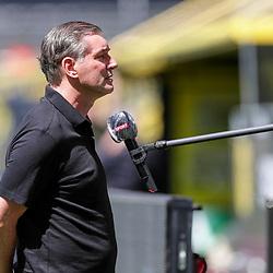 Michael Zorc, Manager Borussia Dortmund; 1. Fussball-Bundesliga; Borussia Dortmund - TSG Hoffenheim am 27.06.2020 im Signal-Iduna-Park in Dormund (Nordrhein-Westfalen). <br /> <br /> FOTO: BEAUTIFUL SPORTS/WUNDERL/POOL/PIX-Sportfotos<br /> <br /> DFL REGULATIONS PROHIBIT ANY USE OF PHOTOGRAPHS AS IMAGE SEQUENCES AND/OR QUASI-VIDEO. <br /> <br /> EDITORIAL USE OLNY.<br /> National and<br /> international NewsAgencies OUT.<br /> <br /> <br /> <br /> Foto © PIX-Sportfotos *** Foto ist honorarpflichtig! *** Auf Anfrage in hoeherer Qualitaet/Aufloesung. Belegexemplar erbeten. Veroeffentlichung ausschliesslich fuer journalistisch-publizistische Zwecke. For editorial use only. DFL regulations prohibit any use of photographs as image sequences and/or quasi-video.