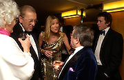 mrs. Ronnie Corbett, Sir David Frost, Lady Carina Frost, Miles Frost  and Ronnie Corbett. Annual  Award dinner given by the Media Society in honour of Sir David Frost. Savoy. 9 March 2005. ONE TIME USE ONLY - DO NOT ARCHIVE  © Copyright Photograph by Dafydd Jones 66 Stockwell Park Rd. London SW9 0DA Tel 020 7733 0108 www.dafjones.com