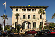 Old post office in the historic district of Fernandina Beach, Florida