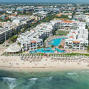 Aerial view of Royal Playa. Playa del Carmen. Mexico