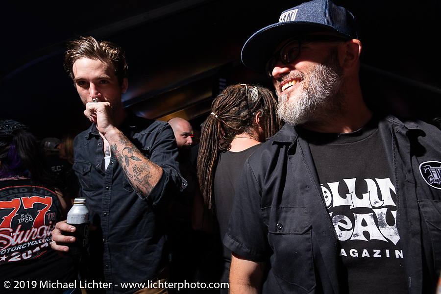 Super Hooligan pre-party at the Loud American on Main Street during the Sturgis Black Hills Motorcycle Rally. Sturgis, SD, USA. Monday, August 5, 2019. Photography ©2019 Michael Lichter.