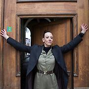 Piccolo Teatro Grassi, Milano, Italia, 9 Aprile 2021. Elena Milan, attrice.