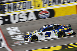 March 2, 2018 - Las Vegas, Nevada, United States of America - March 02, 2018 - Las Vegas, Nevada, USA: Chase Elliott (9) brings his race car down the front stretch during practice for the Pennzoil 400 at Las Vegas Motor Speedway in Las Vegas, Nevada. (Credit Image: © Chris Owens Asp Inc/ASP via ZUMA Wire)