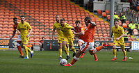 Blackpool's Jay Spearing scores the opening goal from the penalty spot<br /> <br /> Photographer Stephen White/CameraSport<br /> <br /> The EFL Sky Bet League One - Blackpool v Fleetwood Town - Monday 22nd April 2019 - Bloomfield Road - Blackpool<br /> <br /> World Copyright © 2019 CameraSport. All rights reserved. 43 Linden Ave. Countesthorpe. Leicester. England. LE8 5PG - Tel: +44 (0) 116 277 4147 - admin@camerasport.com - www.camerasport.com<br /> <br /> Photographer Stephen White/CameraSport<br /> <br /> The EFL Sky Bet Championship - Preston North End v Ipswich Town - Friday 19th April 2019 - Deepdale Stadium - Preston<br /> <br /> World Copyright © 2019 CameraSport. All rights reserved. 43 Linden Ave. Countesthorpe. Leicester. England. LE8 5PG - Tel: +44 (0) 116 277 4147 - admin@camerasport.com - www.camerasport.com