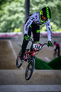 #134 (BODZEN Jeremy) FRA at Round 5 of the 2019 UCI BMX Supercross World Cup in Saint-Quentin-En-Yvelines, France