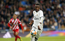 January 24, 2019 - Madrid, Madrid, Spain - Vinicius Jr (Real Madrid) seen in action during the Copa del Rey Round of quarter-final first leg match between Real Madrid CF and Girona FC at the Santiago Bernabeu Stadium in Madrid, Spain. (Credit Image: © Manu Reino/SOPA Images via ZUMA Wire)