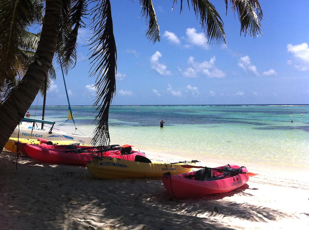 Ambergris Caye, Belize 8/31/2012.Lazy day on the beach at Tranquility Bay..Alex Jones / www.alexjonesphoto.com