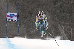 17/12/2010 ALPINE SKI WORLD CUP VAL GARDENA 2010 FIS SKI WELT CUP. Gasper Markic of Slovenia competes during the Audi FIS Alpine Ski World Cup Men's SuperG on December 17, 2010 in Val Gardena, Italy.  © Photo Pierre Teyssot / Sportida.com.