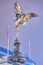 Statue of Eros at Piccadilly Circus, London, England, UK