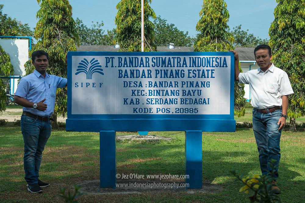 Bandar Pinang Rubber Estate, Bintang Bayu, Serdang Bedagai, Sumatra Utara, Indonesia.