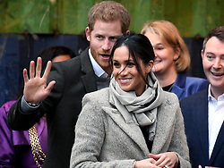 Prince Harry and Meghan Markle visit youth-orientated radio station, Reprezent FM, in Brixton, London to learn about its work supporting young people. Picture Credit Should Read: Doug Peters/EMPICS Entertainment