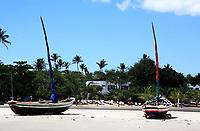 min beach of the beautiful and hidden fisherman village of Jericoacoara in ceara state brazil
