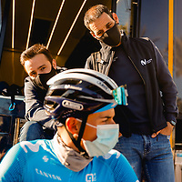 Sebastián Unzué, Patxi Vila. 2021 Movistar Team Training Camp, Almería. 15.1.2021.