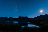 Night view of Trappers Lake in the Flat Tops Wilderness, Colorado USA.