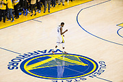 Golden State Warriors forward Kevin Durant (35) celerbates a basket against the Cleveland Cavaliers during Game 1 of the NBA Finals at Oracle Arena in Oakland, Calif., on May 31, 2018. (Stan Olszewski/Special to S.F. Examiner)