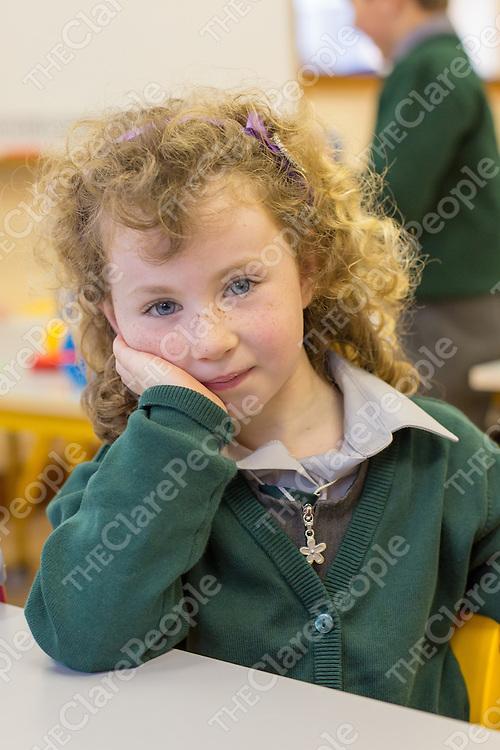 Junior Infant Doireann Healy at Annagh NS, Miltown Malbay