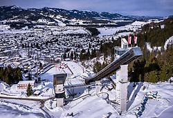 THEMENBILD - die Audi Arena aus der Luft, aufgenommen am 31. Januar 2019 in Oberstdorf, Deutschland // aerial View of the Audi Arena Skijumping Stadium, Oberstdorf, Austria on 2019/01/31. EXPA Pictures © 2019, PhotoCredit: EXPA/ JFK