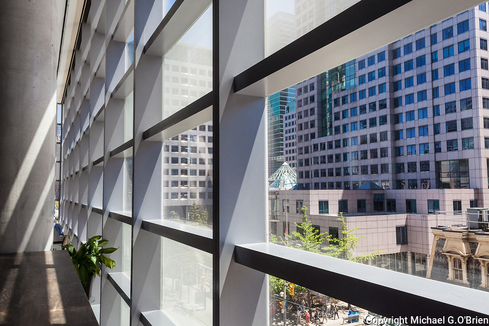 Inside the TIFF Lightbox building in Toronto, Ontario, Canada