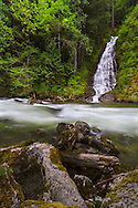Eureka Falls and Silverhope Creek in the Skagit Valley of British Columbia, Canada