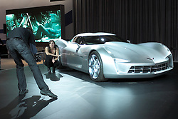"""11 February 2009:  CHEVROLET STING RAY CONCEPT: Chevrolet introduced for the first time ever… a new automotive super-star… the Chevrolet Sting Ray concept at the'09 Chicago Auto Show. General Motors Vice Pres., Design Ed Welburn, unveiled the Sting Ray concept, which pays homage to the 1959 Sting Ray Racer and 1963 Corvette Sting Ray Split-Window Coupe. Notice the wide shoulders, sculpted fender forms, side air extractors, piercing nose, and of course, the legendary Split-Window design feature. There's even a modern interpretation of the Sting Ray badge and some interesting aircraft-inspired features at the back. This futuristic vision of an American performance icon plays the role of """"Sideswipe"""" in the upcoming film Transformers II: Revenge of the Fallen.<br /> The Chicago Auto Show is a charity event of the Chicago Automobile Trade Association (CATA) and is held annually at McCormick Place in Chicago Illinois."""