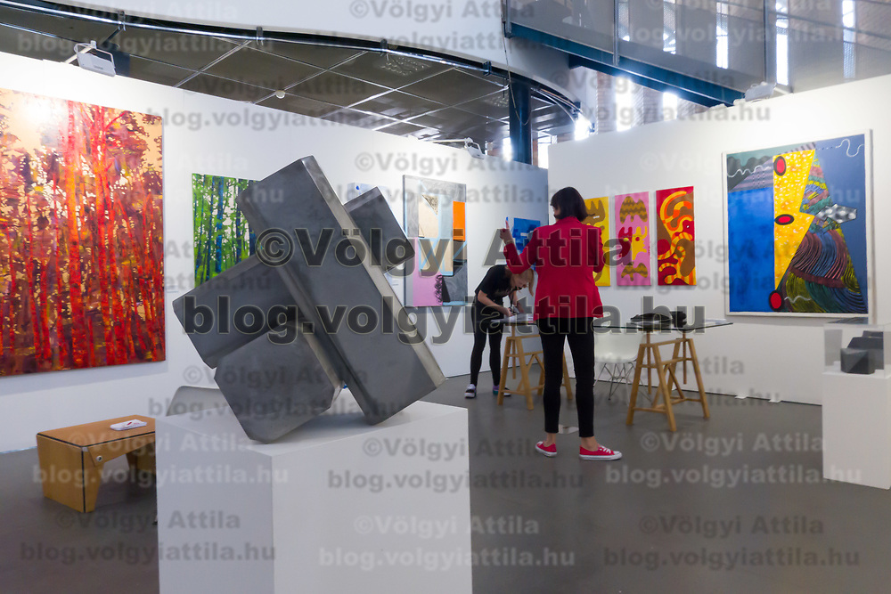Artwork is seen on display during a media preview of the international contemporary art fair Art Market Budapest in Budapest, Hungary on Oct. 2, 2019. ATTILA VOLGYI