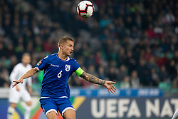 Jason Demetriou of Cyprus during football match between National Teams of Slovenia and Cyprus in Final Tournament of UEFA Nations League 2019, on October 16, 2018 in SRC Stozice, Ljubljana, Slovenia. Photo by Urban Urbanc / Sportida