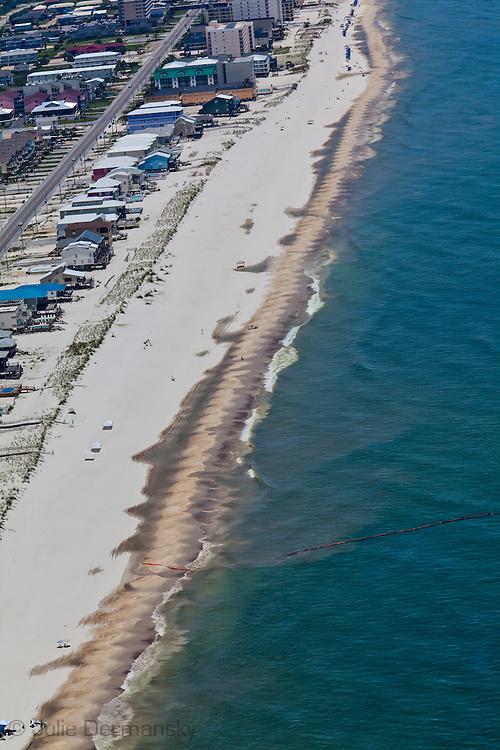 6/26/2010  BP oil washing up on Orange Beach in Gulf Shores Alabama.