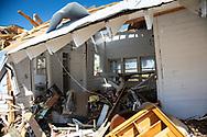 WIdescale destruction in Mexico Beach, Florida following Hurricane Michael.