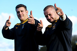 Tom Cruse and Ben Harris of Wasps during training ahead of the European Challenge Cup fixture against SU Agen - Mandatory by-line: Robbie Stephenson/JMP - 18/11/2019 - RUGBY - Broadstreet Rugby Football Club - Coventry , Warwickshire - Wasps Training Session