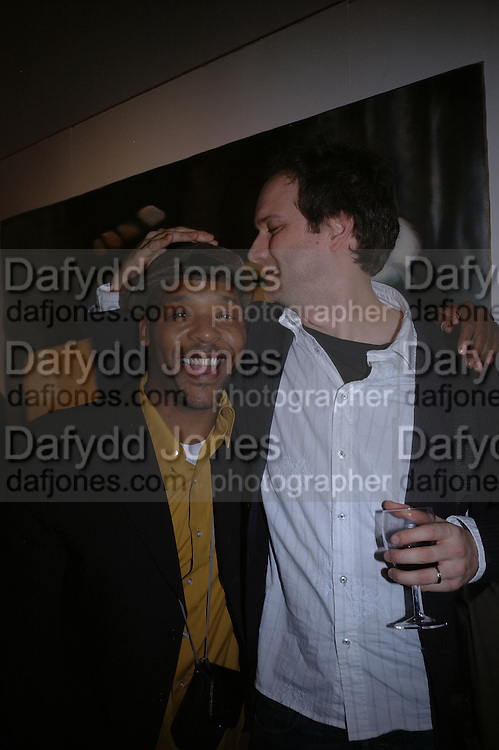 Curtis McClarin and Erik Jensen 'The Exonerated' Riverside Studios. 24 February 2006. ONE TIME USE ONLY - DO NOT ARCHIVE  © Copyright Photograph by Dafydd Jones 66 Stockwell Park Rd. London SW9 0DA Tel 020 7733 0108 www.dafjones.com