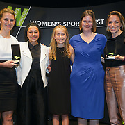 London,England,UK. 11th May 2017. Outstanding Contribution to Women's Sport - Charlotte Edwards,Anisa Ansar,Milly Crosby, Travers Smith and Kate Richardson-Walsh of the Women's Sport Trust Awards - #BeAGameChanger at The Troxy,london, UK. by See Li