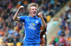 Chris Forrester of Peterborough United celebrates scoring his goal to make it 2-0 - Mandatory byline: Joe Dent/JMP - 07966386802 - 26/09/2015 - FOOTBALL - Coral Windows Stadium -Bradford,England - Bradford City v Peterborough United - Sky Bet League One