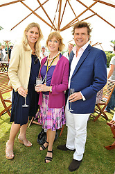 Left to right, MRS MARK STEWART, LADY STEWART and MARK STEWART at a luncheon hosted by Cartier for their sponsorship of the Style et Luxe part of the Goodwood Festival of Speed at Goodwood House, West Sussex on 5th July 2009.