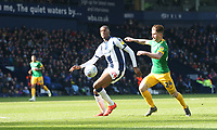 West Bromwich Albion's Tosin Adarabioyo shields the ball from Preston North End's Sean Maguire<br /> <br /> Photographer Stephen White/CameraSport<br /> <br /> The EFL Sky Bet Championship - West Bromwich Albion v Preston North End - Saturday 13th April 2019 - The Hawthorns - West Bromwich<br /> <br /> World Copyright © 2019 CameraSport. All rights reserved. 43 Linden Ave. Countesthorpe. Leicester. England. LE8 5PG - Tel: +44 (0) 116 277 4147 - admin@camerasport.com - www.camerasport.com
