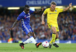 23 August 2016 - EFL Cup - Chelsea v Bristol Rovers<br /> Stuart Sinclair of Bristol Rovers tries to intercept the shot of Victor Moses of Chelsea<br /> Photo: Charlotte Wilson