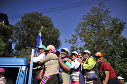 May 25, 2019 - Kathmandu, NP, Nepal - Relatives celebrates after welcome Nepali mountaineer Kami Rita Sherpa in Tribhuvan International Airport in Kathmandu, Nepal on Saturday, May 25, 2019. Kami Rita Sherpa broke his own world record for the most Everest summits on 21st May, 2019 by reaching the world's highest peak for the 24th time via S Col- SE Ridge. (Credit Image: © Narayan Maharjan/NurPhoto via ZUMA Press)