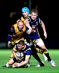Michael Dowsett of Worcester Warriors collects the ball - Mandatory by-line: Robbie Stephenson/JMP - 04/11/2016 - RUGBY - Sixways Stadium - Worcester, England - Worcester Warriors v Bristol Rugby - Anglo Welsh Cup