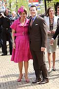 Koninginnedag 2008 / Queensday 2008. <br /> <br /> Koningin Beatrix viert Koninginnedag dit jaar in Friesland. De vorstin en haar familie bezochten op 30 april Makkum en Franeker.<br /> <br /> Queen Beatrix celebrates Queensday this year in Friesland (the Nothren provice in Holland). The Queen and its family visited Makkum and Franeker on 30 April.<br /> <br /> Op de foto/ On the Photo: Princes Laurentien and Prince Constantijn