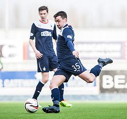 Falkirk's Mark Millar.<br /> Falkirk 1 v 1 Livingston, Scottish Championship game today at The Falkirk Stadium.<br /> © Michael Schofield.